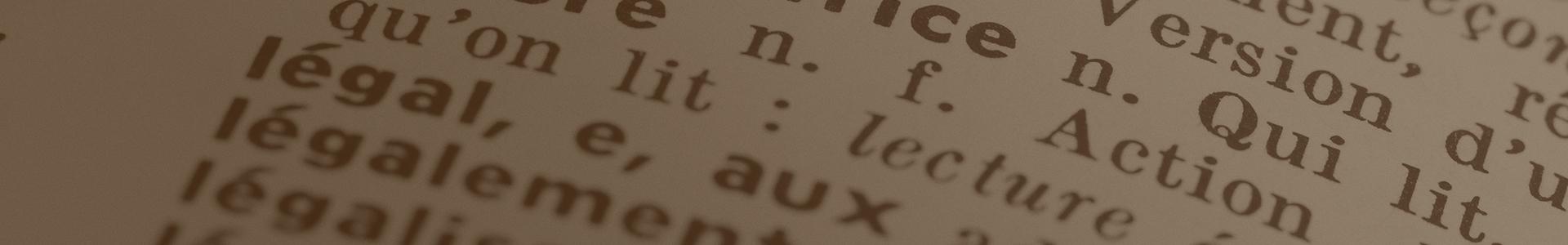 Lexique juridique